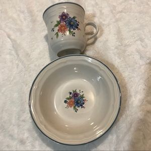 🐥2/20$ - Vintage Stoneware Cup and Bowl